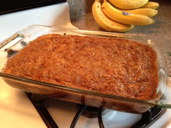 Easy Nectarine Basil Cake