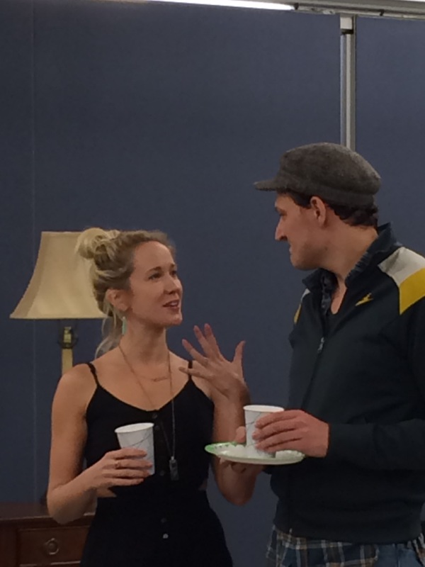 Anna Camp and Gabriel Ebert enjoying a little Wine and Unwind